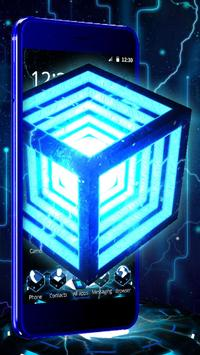 3D Neon Hyper Cube Theme poster