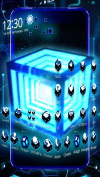 3D Neon Hyper Cube Theme screenshot 1
