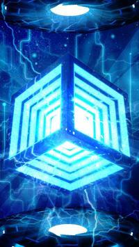 3D Neon Hyper Cube Theme screenshot 2