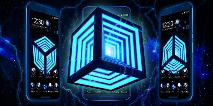 3D Neon Hyper Cube Theme screenshot 3