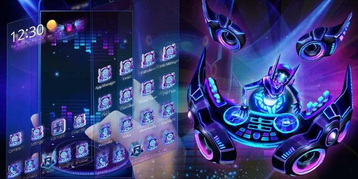 3D Neon Hologram DJ Music Theme screenshot 3