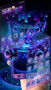 3D Neon Hologram DJ Music Theme screenshot 1