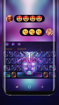 Neon DJ wolf Theme poster