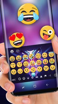 Neon DJ wolf Theme apk screenshot