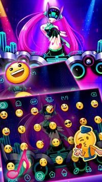 Neon DJ Music Keyboard Theme screenshot 1
