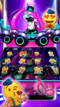 Neon DJ Music Keyboard Theme screenshot 3