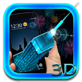 Neon Empire State Building 3D Theme icon