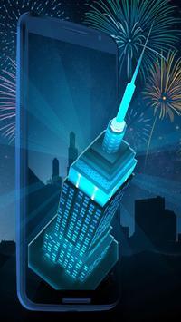 Neon Empire State Building 3D Theme screenshot 2
