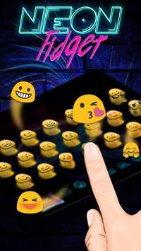 Neon Fidget Keyboard Theme apk screenshot