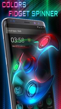 3D Neon Colors Fidget Spinner Theme poster