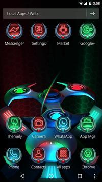 3D Neon Colors Fidget Spinner Theme apk screenshot