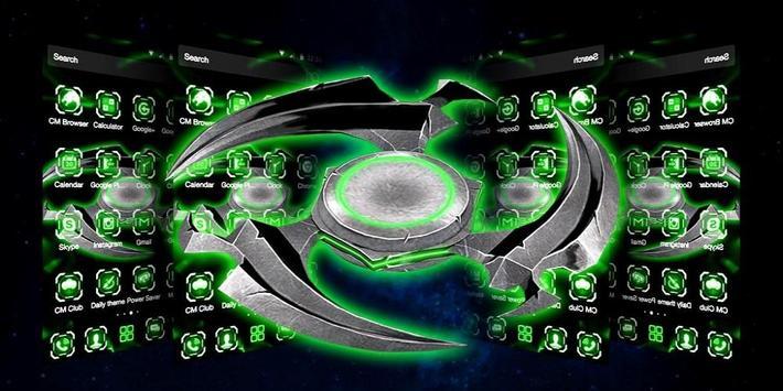 3D Neon Fidget Spinner Theme screenshot 3