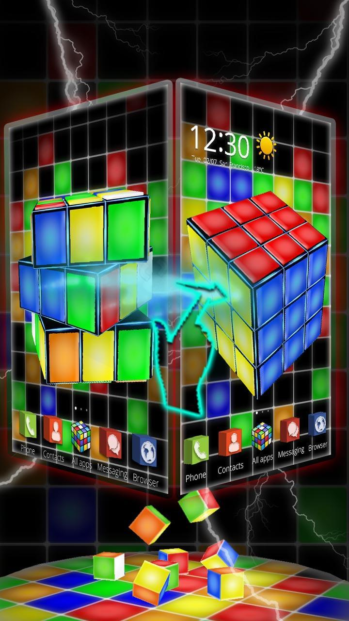Neón 3d Rubik Cube Tema For Android Apk Download