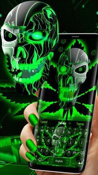Neon Hellfire Skull poster