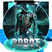 Antique Neon Robot Theme icon
