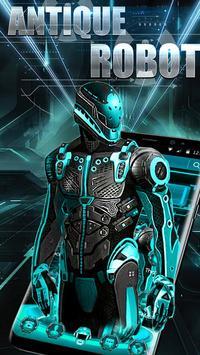 Antique Neon Robot Theme poster