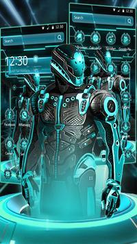 Antique Neon Robot Theme apk screenshot