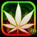 3D Green Leaf Smoke Theme