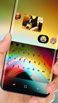 Neon Keyboard Rainbow Light Theme apk screenshot