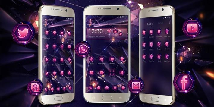 Smash Neon Diamond Theme apk screenshot