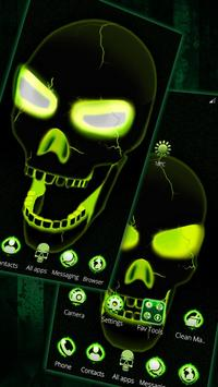 Neon Poison Skull 3D Theme apk screenshot
