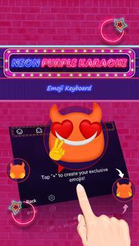 Neon Purple Karaoke Theme&Emoji Keyboard screenshot 3