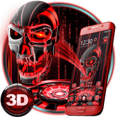 3D Tech Blood Skull Theme icon