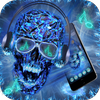 DJ Skull Neon Theme icon