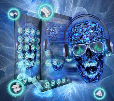 DJ Skull Neon Theme poster