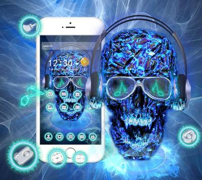 DJ Skull Neon Theme screenshot 1