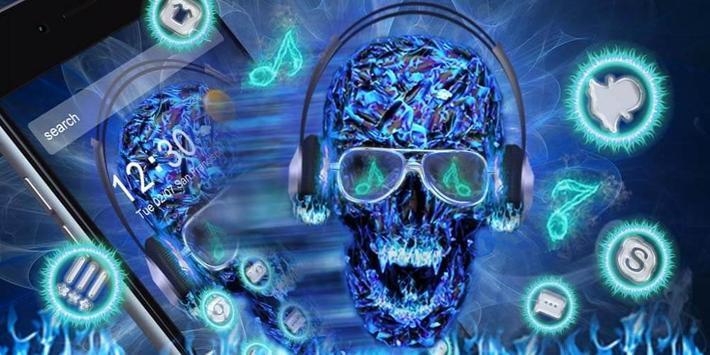 DJ Skull Neon Theme screenshot 3