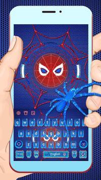Neon Spider keyboard Theme poster