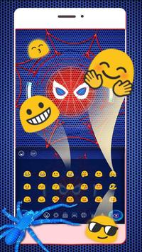 Neon Spider keyboard Theme apk screenshot