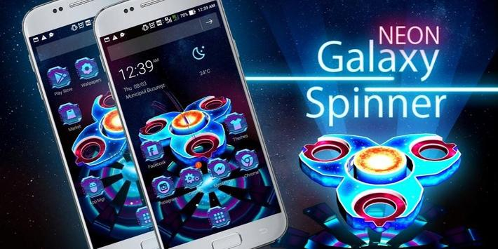 3D Neon Galaxy Spinner Theme screenshot 3