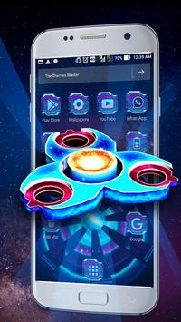 3D Neon Galaxy Spinner Theme screenshot 1