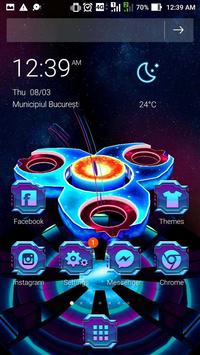 3D Neon Galaxy Spinner Theme screenshot 2