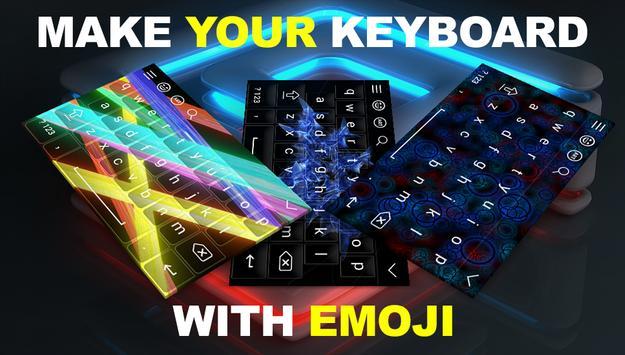 NEON Style 3D Keyboard Theme screenshot 1