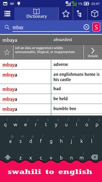 English Swahili Dictionary screenshot 2
