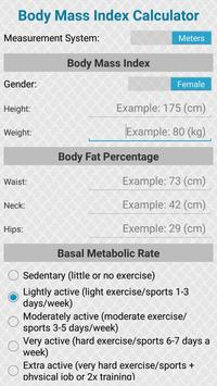 Body Mass Index Calculator poster