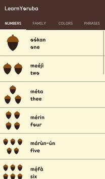 Learn Yoruba screenshot 1