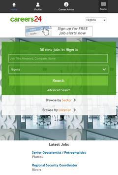 Careers24 Nigeria Job Search poster