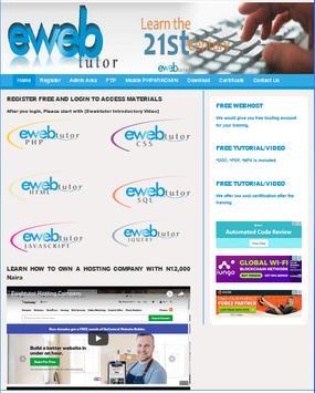 Ewebtutor poster