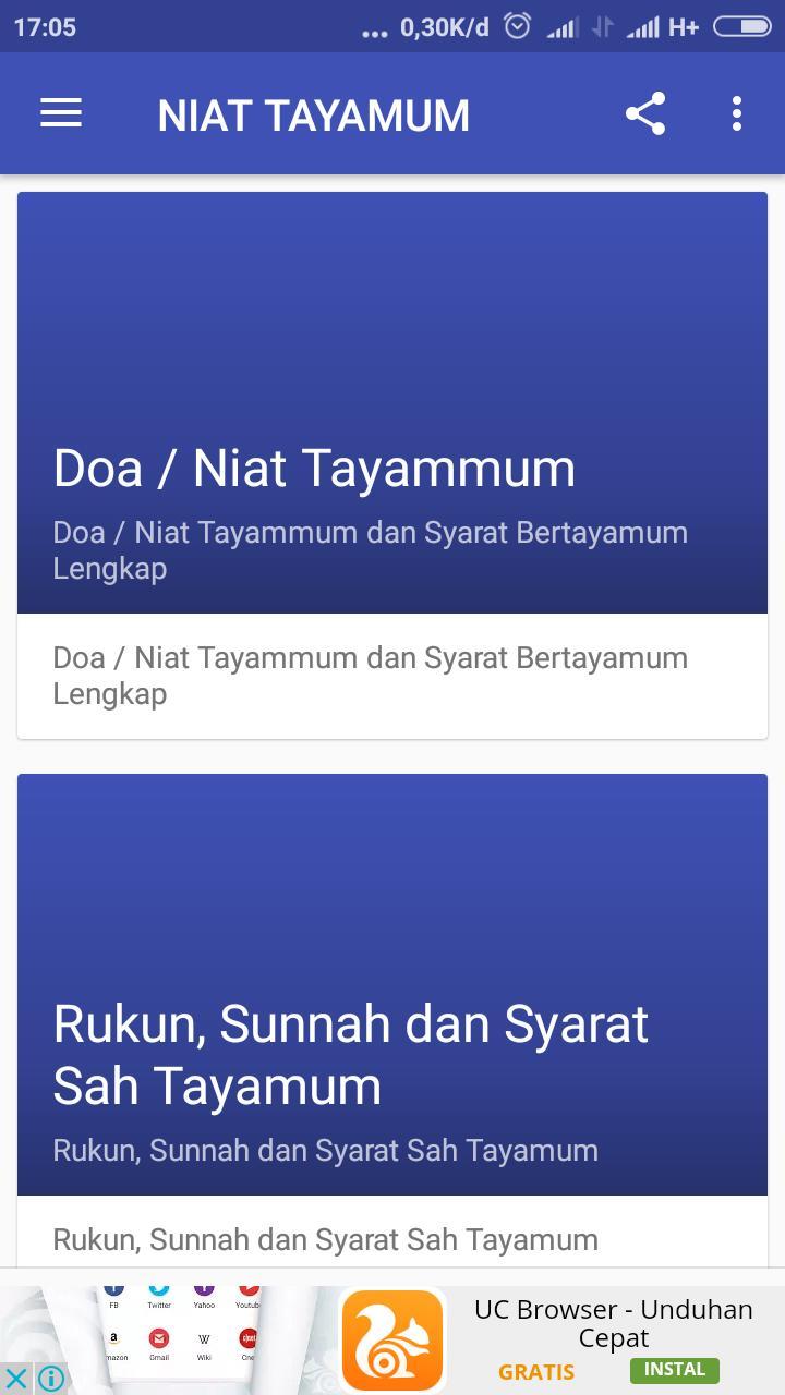 Niat Tayamum For Android Apk Download