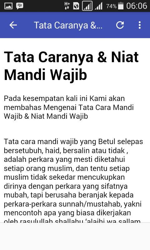 Niat Mandi Wajib For Android Apk Download