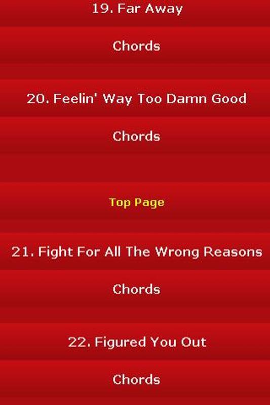 All Songs Of Nickelback Apk