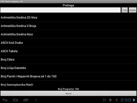 C++ Zbirka Programa 100 apk screenshot