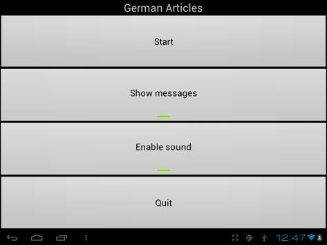 German Articles apk screenshot