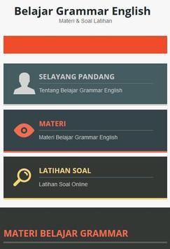 Belajar Grammar English poster