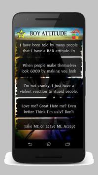 Boy Attitude Status screenshot 1