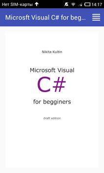 MS Visual C# for beginners poster